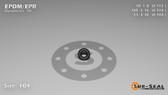 O-Ring, Black EPDM/EPR/Ethylene/Propylene Size: 104, Durometer: 70 Nominal Dimensions: Inner Diameter: 1/9(0.112) Inches (2.84mm), Outer Diameter: 7/22(0.318) Inches (0.318mm), Cross Section: 7/68(0.103) Inches (2.62mm) Part Number: OREPD104