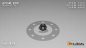 O-Ring, Black EPDM/EPR/Ethylene/Propylene Size: 105, Durometer: 70 Nominal Dimensions: Inner Diameter: 1/7(0.143) Inches (3.63mm), Outer Diameter: 15/43(0.349) Inches (0.349mm), Cross Section: 7/68(0.103) Inches (2.62mm) Part Number: OREPD105
