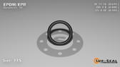O-Ring, Black EPDM/EPR/Ethylene/Propylene Size: 115, Durometer: 70 Nominal Dimensions: Inner Diameter: 31/46(0.674) Inches (1.71196Cm), Outer Diameter: 22/25(0.88) Inches (2.2352Cm), Cross Section: 7/68(0.103) Inches (2.62mm) Part Number: OREPD115