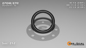 O-Ring, Black EPDM/EPR/Ethylene/Propylene Size: 212, Durometer: 70 Nominal Dimensions: Inner Diameter: 67/78(0.859) Inches (2.18186Cm), Outer Diameter: 1 10/73(1.137) Inches (2.88798Cm), Cross Section: 5/36(0.139) Inches (3.53mm) Part Number: OREPD212