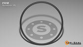 O-Ring, Black Viton/FKM Size: 013, Durometer: 75 Nominal Dimensions: Inner Diameter: 23/54(0.426) Inches (1.08204Cm), Outer Diameter: 30/53(0.566) Inches (1.43764Cm), Cross Section: 4/57(0.07) Inches (1.78mm) Part Number: ORVT013