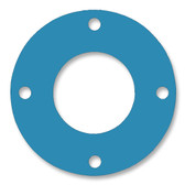 Teadit, NSF-61 SAN 1082, Full Face Gasket, Pipe Size: 1/2(0.5) Inches (1.27Cm), Thickness: 1/16(0.062) Inches (1.5748mm), Pressure: 300# (psi), Inner Diameter: 27/32(0.8438)Inches (2.143252Cm), Outer Diameter: 3 3/4(3.75)Inches (9.525Cm), With 4 - 5/8(0.625) (1.5875Cm) Bolt Holes, Part Number: CFF1082.500.062.300