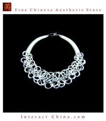 Copy of Silver Necklace Vintage Costume Tribal Jewelry 100% Handcrafted Jewellery Art #115