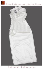 Premium Silk Top Tailor Artistry Cheongsam Qipao Gown Dress - Free Custom Made #111