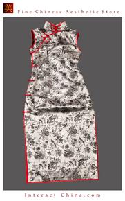 Premium Silk Top Tailor Artistry Cheongsam Qipao Gown Dress - Free Custom Made #120