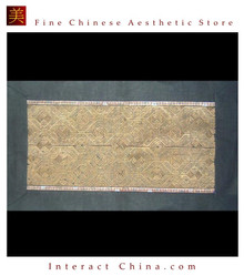 Asian Vintage Textile Art Antique Applique Embroidery 100% Ethnic Needlework #126