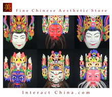 Chinese Drama Home Wall Decor Opera Mask 100% Wood Craft Folk Art #125-130 6 Role