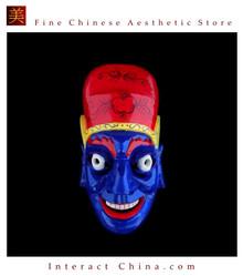 Chinese Home Wall Decor Ritual Dance Mask 100% Wood Craft Folk Art #120 Pro Level