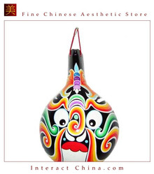 Chinese Home Room Wall Decor Festive Mask 100% Wood Craft Folk Art #105 - 09x13""