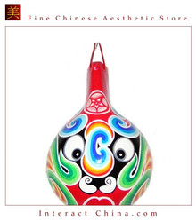 Chinese Home Room Wall Decor Festive Mask 100% Wood Craft Folk Art #114 - 08x12""