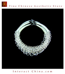 Silver Necklace Vintage Costume Tribal Jewelry 100% Handcrafted Jewellery Art #105 - Set of 3 Rings