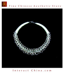 Silver Necklace Vintage Costume Tribal Jewelry 100% Handcrafted Jewellery Art #105M