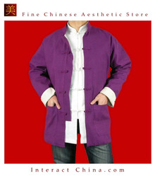 Premium Linen Purple Kung Fu Martial Arts Tai Chi Jacket Coat XS-XL or Tailor Custom Made