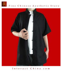 Premium Linen Black Kung Fu Martial Arts Tai Chi Shirt Clothing XS-XL or Tailor Made