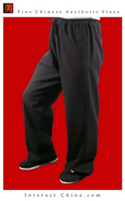 Premium Linen Black Kung Fu Martial Art Taichi Pant Trousers XS-XL or Tailor Custom Made