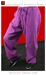 100% Cotton Purple Kung Fu Martial Arts Tai Chi Pant Trousers XS-XL or Tailor Custom Mad