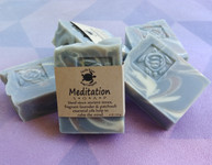 Meditation handmade soap scented with calming essential oils.
