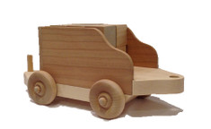 """The tender comes loaded with twelve 1"""" blocks that children like to stack, load and unload. But after it arrives, you'll find that children load it with all sorts of items, from bears to art supplies to rocks to dinosaurs. The tender is 10"""" long x 4"""" wide."""