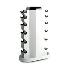 2-Sided Vertical Dumbbell Rack White