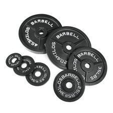 CAP Barbell Standard Olympic Plates Black