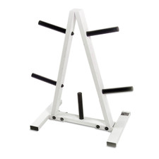 CAP Barbell Standard Plate Rack, Black and White