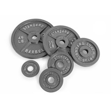 CAP Barbell Olympic 2-Inch Weight Plate, Gray