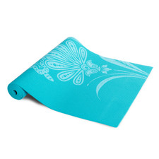 Tone Fitness Yoga Mat with Floral Pattern, Teal