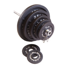 CAP Barbell 300 Pound Olympic Set, Black