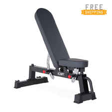 CAP+ 7 Position Utility Bench with wheels (Black)