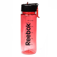 Reebok BPA-Free Water Bottle, Red, 650 mL