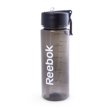 Reebok BPA-Free Water Bottle, Black, 650 mL