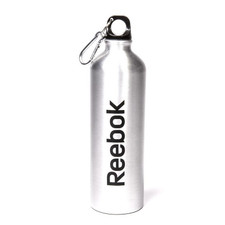 Reebok Aluminum Water Bottle with Carabiner, 750 mL