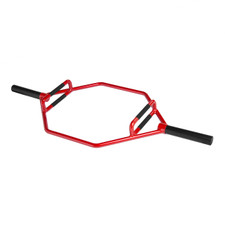 CAP Barbell Olympic 2-Inch Combo Hex Bar, Cherry Bomb Red