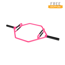 CAP Barbell Olympic 2-Inch Combo Hex Bar, Bubblegum Pink