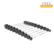 CAP Barbell 12-sided Commercial Rubber Barbells with Straight Handles