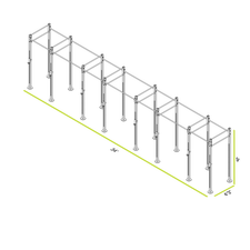 CAP+ 34-foot Free Standing Rig System - 8 Squat/Bench Stations