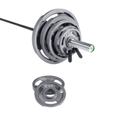 """The Hammer Cast Steel 300lb Grip Plate Set with 1200 Lb """"The Beast"""" Test Bar"""
