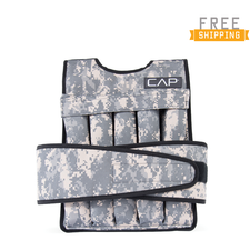 CAP Barbell 40 Lb Cap Adjustable Weighted Vest, Camouflage