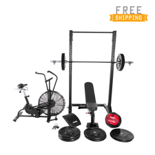 WF Athletic Supply  Assault Air Bike BRAVO Cross Training Combo Package