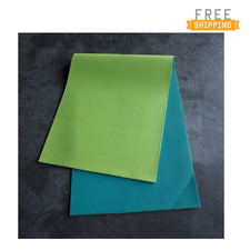 CAP Barbell Reversible Yoga Mat Teal / Green