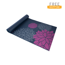 CAP Yoga Eco-Friendly Dahlia Print Yoga Mat with Carry Sling