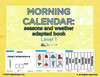 Morning Calendar:  Days of Week, Months, Seasons and More :  Adapted Book: PAGES 42