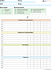 Blank Data Sheets for Recipes: 3 Pages