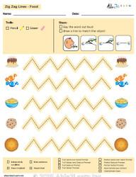 How To Draw Zig Zag Horizontal  Lines and Speech Development: Level 1: