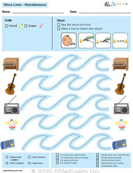 How To Draw  Wave Lines and Speech Development: Level 2: