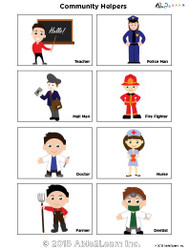 Community Helper  Flashcards: 1 Pages