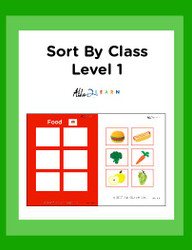 Sort By Class Program Level 1: With Visual Aid:  Pages 11