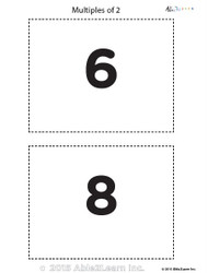 Counting - Multiple of 2's Flash Cards