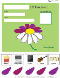 Token Board - Creative Flower - 5 Tokens