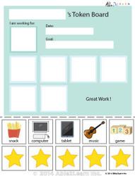 Token Board - Simple Stars - 5 Tokens
